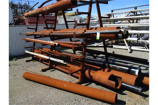 Material rack with steel pipe rigging fee