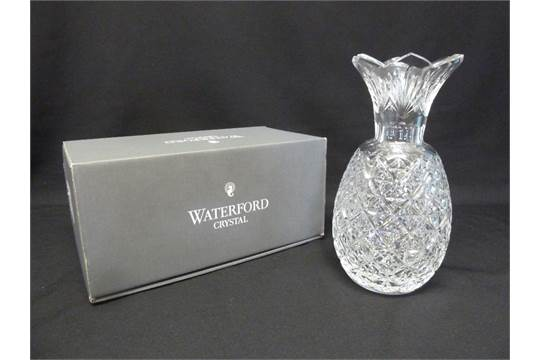Waterford Crystal Pineapple Vase In Original Packaging
