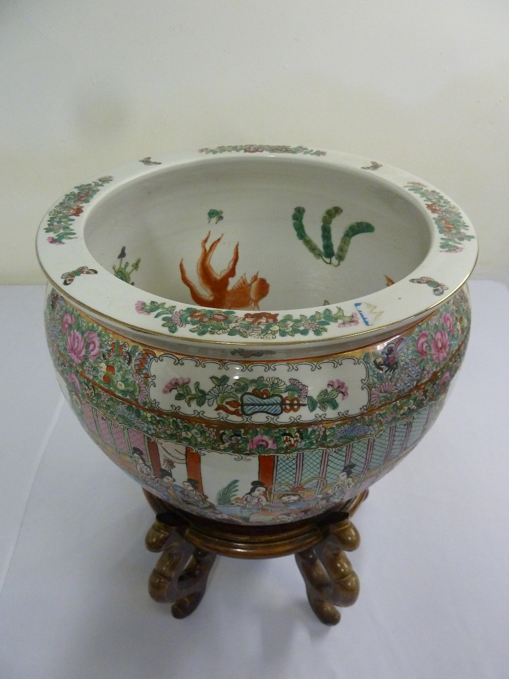 Lot 203 A 20th Century Chinese Fish Bowl On Hardwood Stand