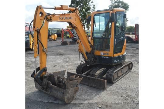 Hyundai Robex 25z-9A 2 5 tonne rubber tracked mini excavator