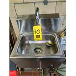 Advance Tabco Advance Tabco S/S Hand Sink (Loc. North Mix) Rigging Fee: $50