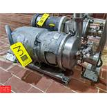 ST Regis 7.5 HP S/S Centrifugal Pump SN: 8-16716 2x3 Head, Clamp-On Type, with 3500 RPM Motor, (Loc.