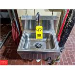 Advanced Tabco S/S Hand Sink (Loc. Central Mix) Rigging Fee: $50