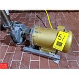 Fristam 3 HP S/S Centrifugal Pump 2x3 Head, with Baldor 1760 RPM Motor, (Loc. South Mix) Rigging