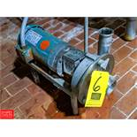 Fristam 2 HP S/S Centrifugal Pump 2x3 Head, with Leeson 1745 RPM Motor, (Loc. Central Mix) Rigging