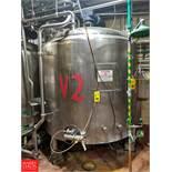 Crepaco 1,000 Gallon S/S Multi-Processor Tank with Vertical Agitation & Load Cells SN: 1000-9317