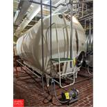 5,000 Gallon S/S Jacketed Tank with Vertical & Horizontal Agitation, T-19, (Loc. Central Mix)