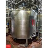 Crepaco 1,000 Gallon S/S Multi-Processor Tank with Vertical Agitation & Load Cells SN: 1000-9318
