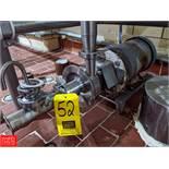 Fristam 5 HP S/S Centrifugal Pump 1.5x2 Head, with Baldor 3450 RPM Motor, (Loc. South Mix) Rigging