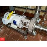 Fristam 5 HP S/S Centrifugal Pump 2x3 Head, with Baldor 1750 RPM Motor, (Loc. South Mix) Rigging