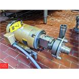 15 HP S/S Centrifugal Pump 2x3 Head, with Baldor 3500 RPM Motor, (Loc. Central Mix) Rigging Fee: $