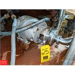 Crepaco S/S Centrifugal Pump 2x3 Head, Clamp-On Type, (Loc. North Mix) Rigging Fee: $150