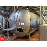 2008 DCI 4,000 Gallon S/S Jacketed Horizontal Tank with Vertical Agitation SN: JS-2111-A Tank T-