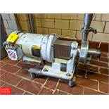 Fristam 5 HP S/S Centrifugal Pump Model: FP712-130 SN: 12171047 1.5x2 Head, with Baldor 3450 RPM