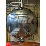 Damrow 5,000 Gallon S/S Jacketed Horizontal Tank with Vertical Agitation C-6, (Loc. North Mix)