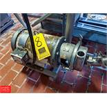 7.5 HP S/S Centrifugal Pump 2x3 Head, Clamp-On Type, with 3505 RPM Motor, (Loc. Central Mix)