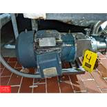 Crepaco 7.5 HP S/S Centrifugal Pump SN: 6V-81 2x3 Head, Clamp-On Type, with Reliance 3510 RPM Motor,