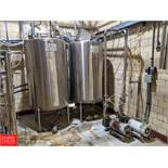 2-Tank CIP System with (2) 250 Gallon S/S Tanks, (1) ESE Integrated Systems Control Panel w/ (2)