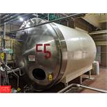 Walker 5,000 Gallon S/S Horizontal Jacketed Tank with Vertical Agitation SN: HHT308 Tank F-4, (