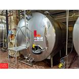 2008 DCI 4,000 Gallon S/S Jacketed Horizontal Tank with Vertical Agitation SN: JS-2111-B Tank T-