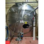 Crepaco 10,000 Gallon S/S Jacketed Horizontal Tank with Vertical Agitation, & Steel Shell Exterior