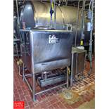 150 Gallon S/S Liquifier Tank with Duty Master 20 HP AC Motor, (Loc. Central Mix)  Rigging Fee: $