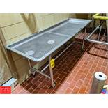"""87"""" x 29.5"""" x 36"""" Mobile S/S Table (Loc. Central Mix) Rigging Fee: $150"""