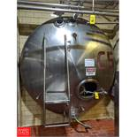 Damrow 5,000 Gallon S/S Jacketed Horizontal Tank C-5, (Loc. North Mix) Rigging Fee: $4000