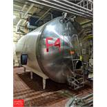 Crepaco 5,000 Gallon S/S Horizontal Jacketed Tank with Vertical Agitation SN: 4002 Tank F-5, (Loc.