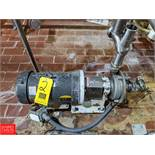 7.5 HP S/S Centrifugal Pump 2x3 Head, with Baldor 3450 RPM Motor, (Loc. Central Mix) Rigging Fee: $