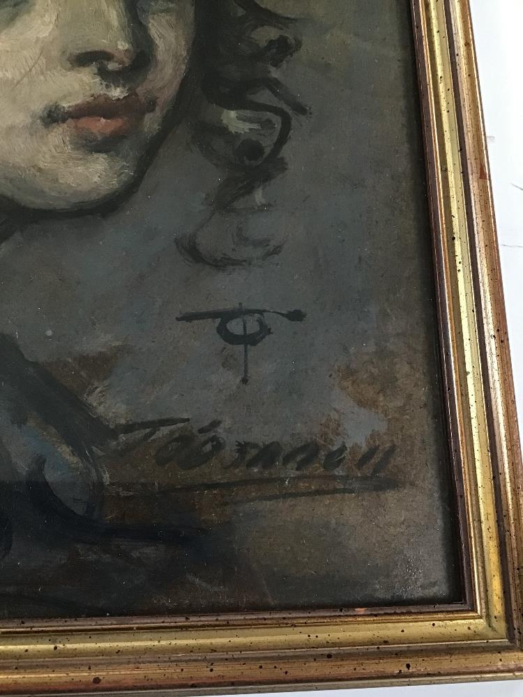 Lot 530 - THOMAS O'DONNELL TWO FRAMED AND GLAZED PORTRAITS, ONE PASTEL AND ONE SANGUINE,H48CM X W39CM AND