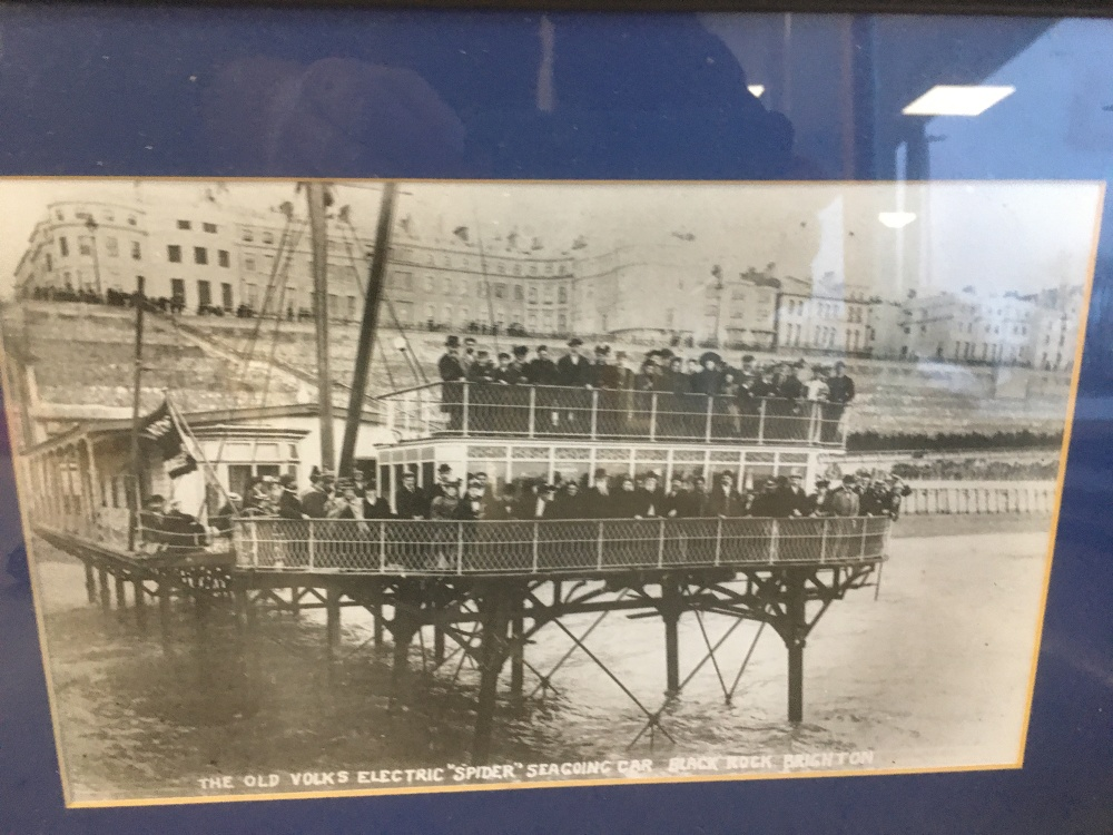 Lot 502 - TWO VINTAGE FRAMED AND GLAZED PHOTOGRAPHS OF BRIGHTON INCLUDING BLACK ROCK BATHING POOL AND THE