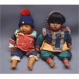 Two Gotz 'Dribble' baby dolls by Carin Lossnitzer - 'Ahmara' Indian style girl doll No.
