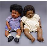 Annette Himstedt brown vinyl baby doll 'Mo' with curly hair,
