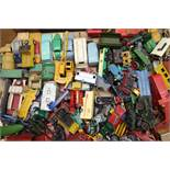 Large quantity of unboxed and playworn die-cast models including early Dinky,