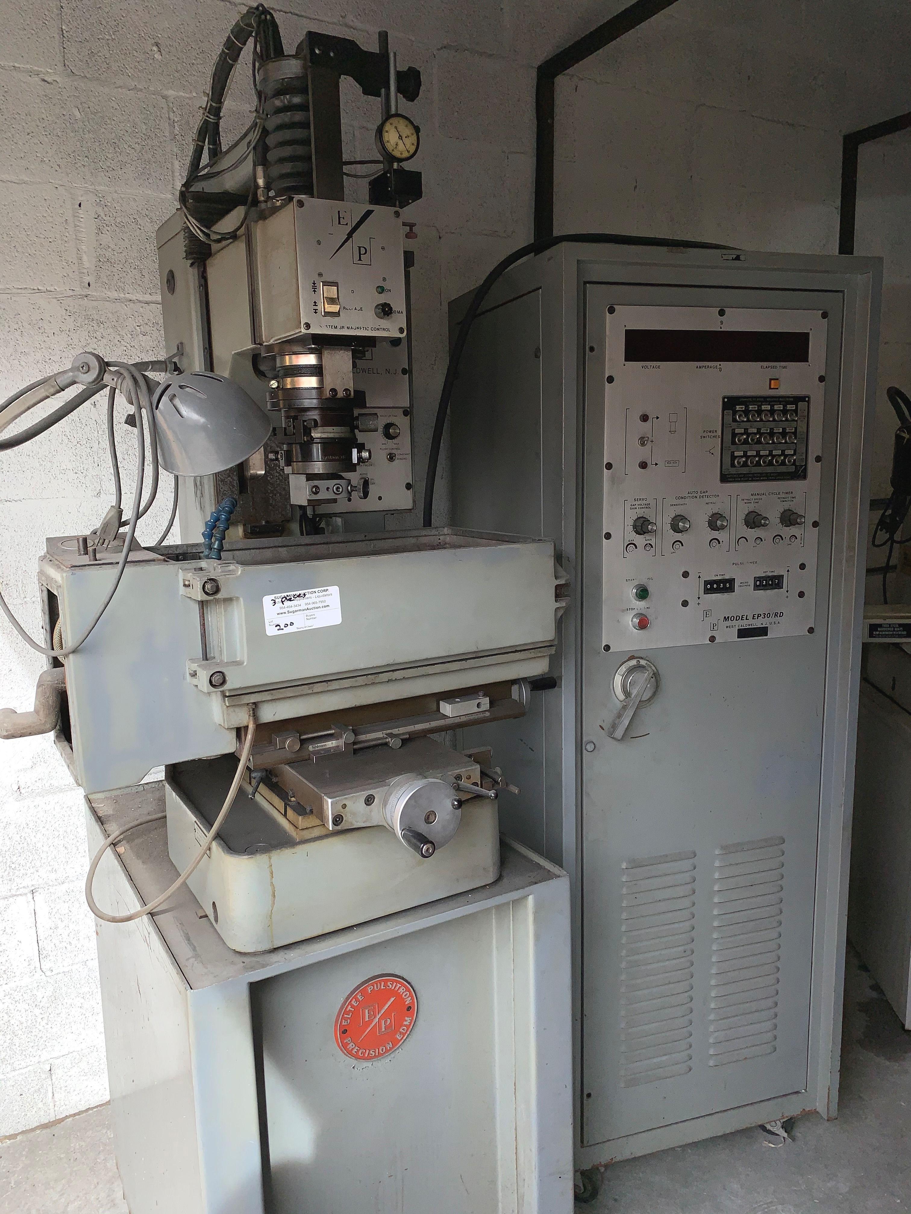 Eltee Pulsitron EDM Machine, E.P. 30, Serial # 0919, Vacuum & Extra Filters