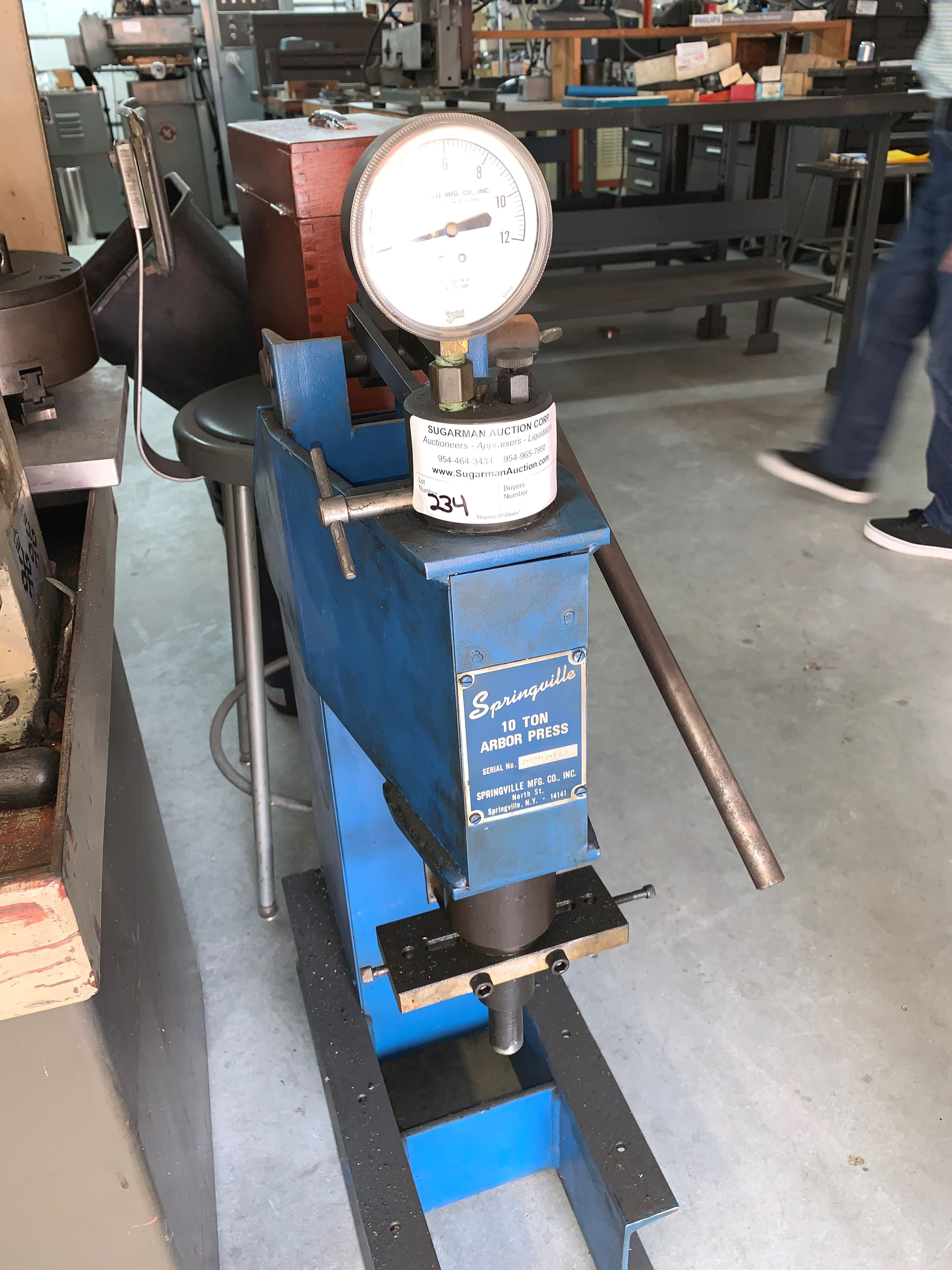 Springville 10 Ton Arbor Press