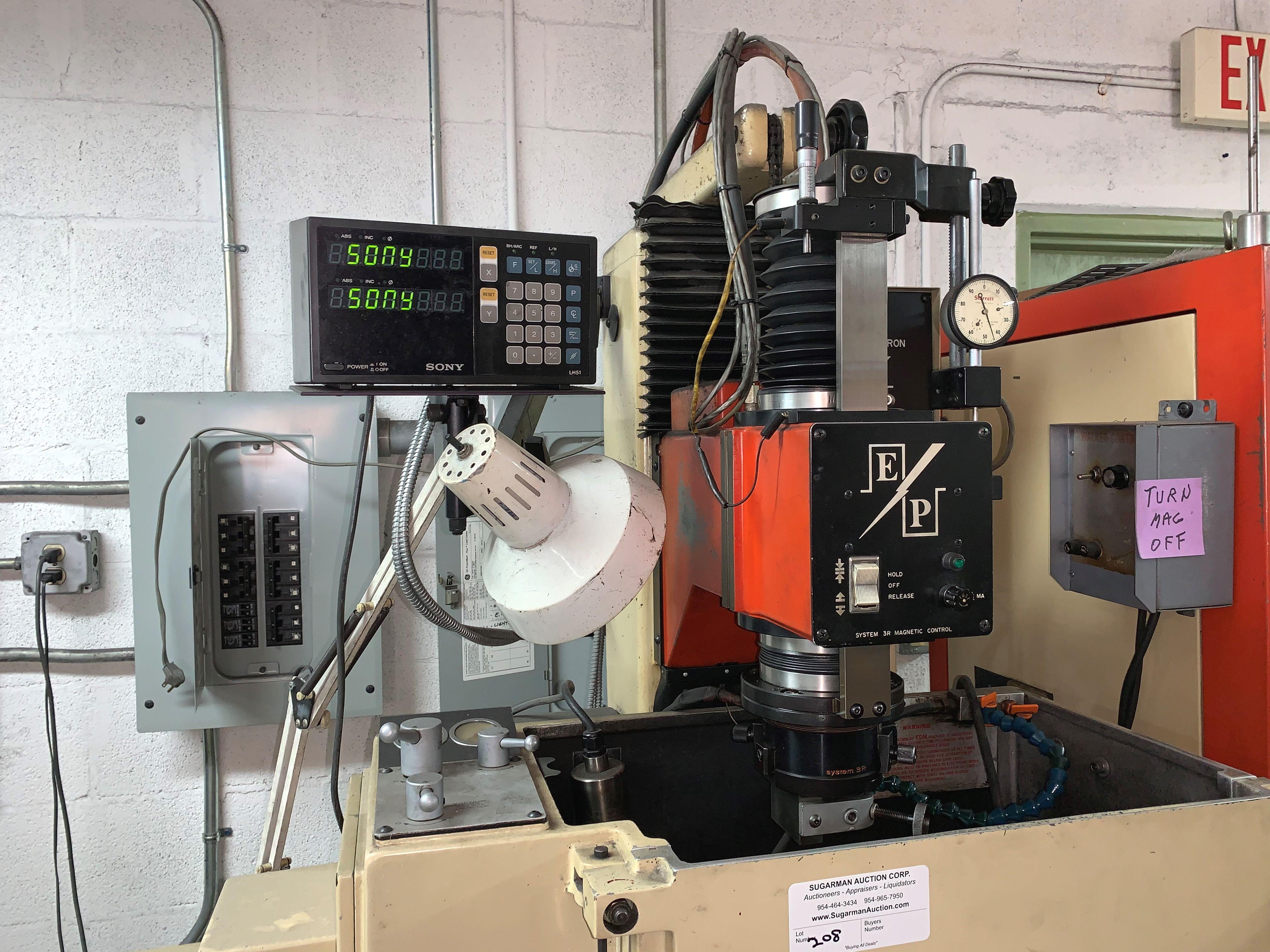 Eltee Pulsitron EDM Machine, Serial # 1515, Vacuum & Extra Filters - Image 2 of 2