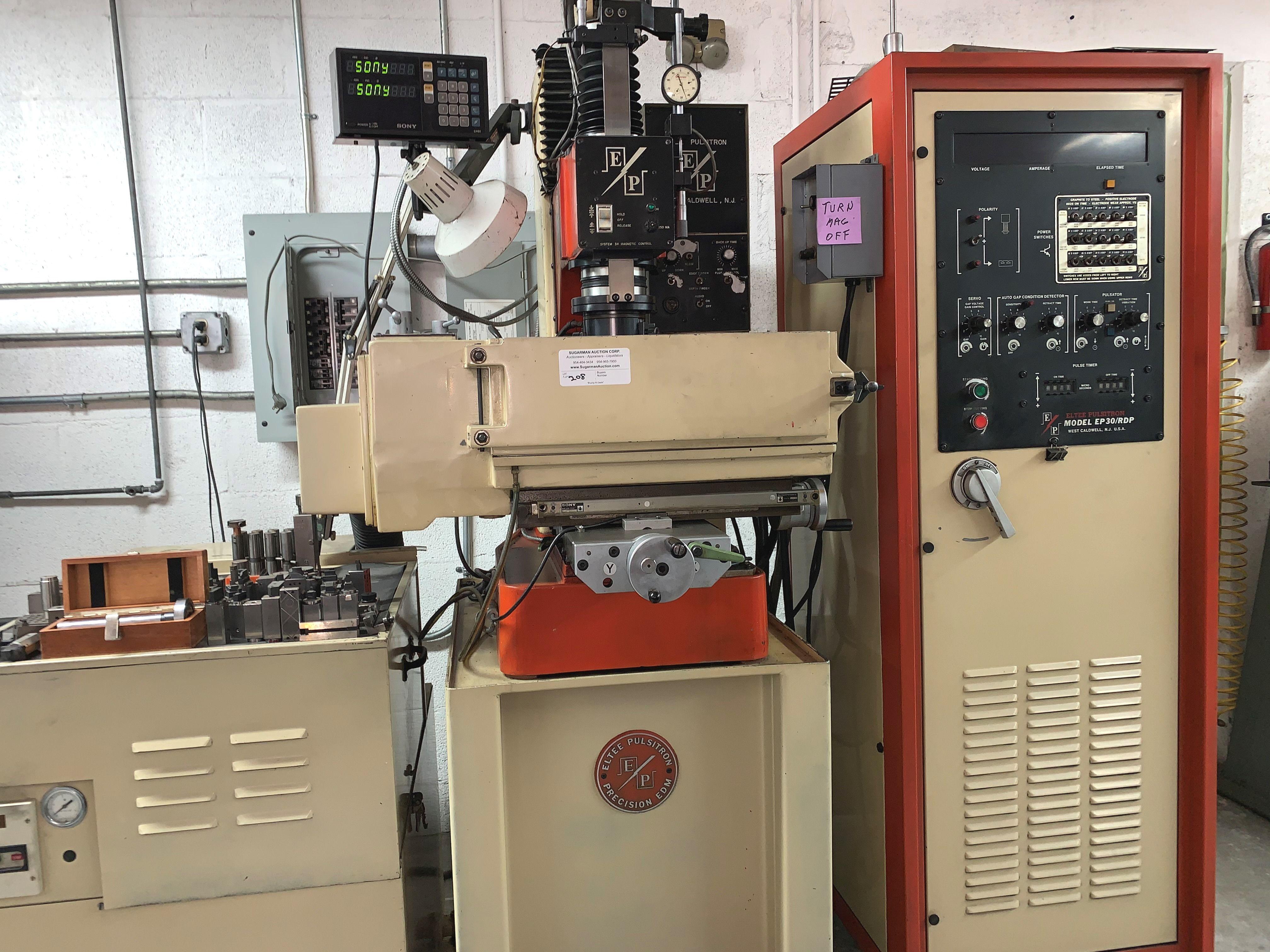 Eltee Pulsitron EDM Machine, Serial # 1515, Vacuum & Extra Filters
