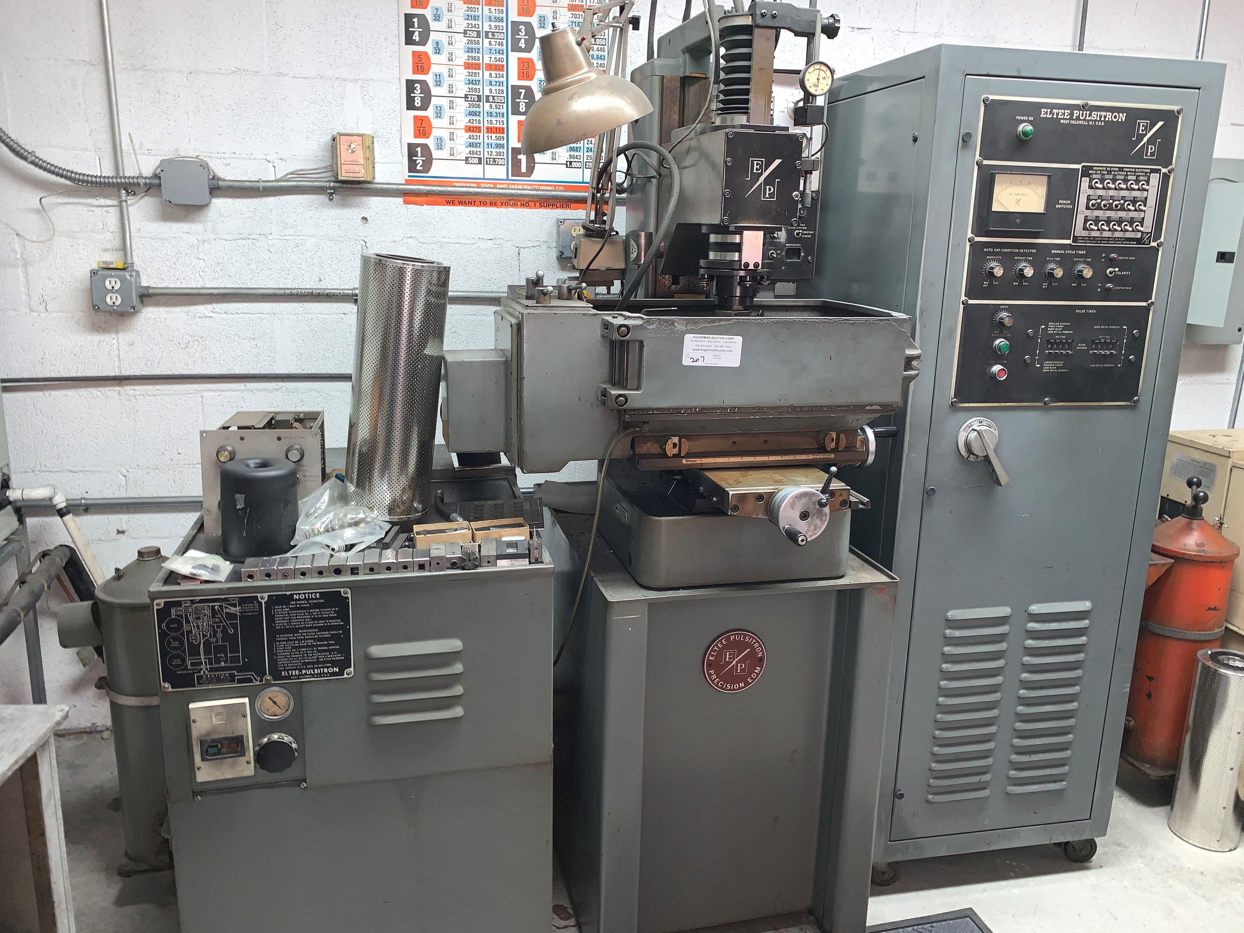 Eltee Pulsitron EDM Machine, E.P. 30, Serial # 0225, Vacuum & Extra Filters