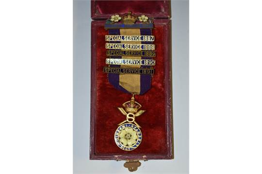 Medal, Politics, Primrose League, 6 enamel clasps: Special Service