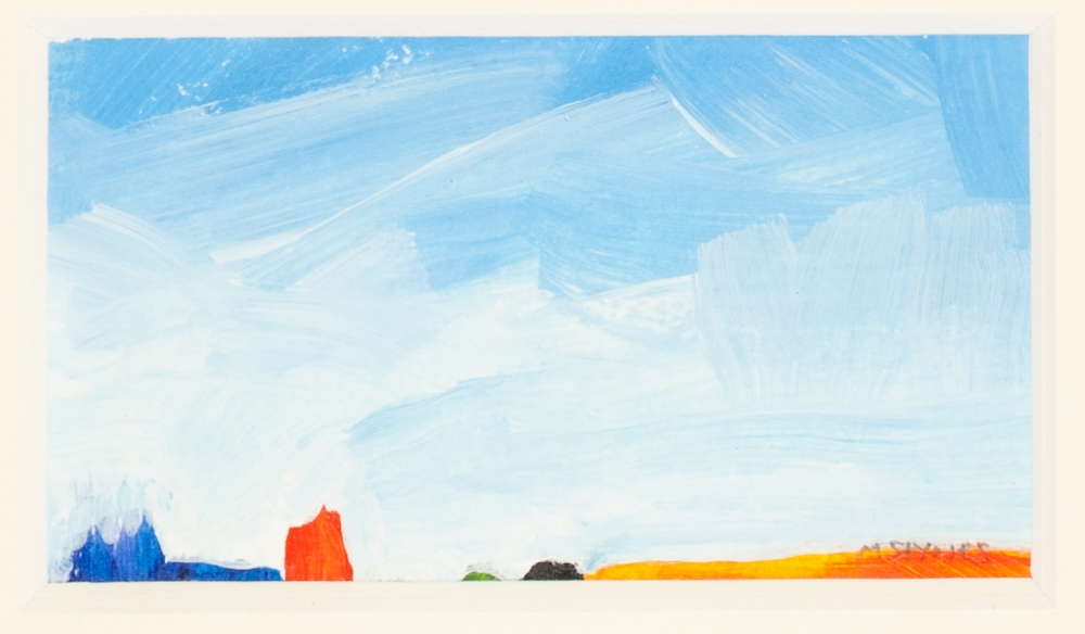 Lot 399 - MARTIN STYNES (TWENTIETH/ TWENTY FIRST CENTURY) SIX WORKS FOUR SMALL ACRYLICS ON CANVAS Seascapes
