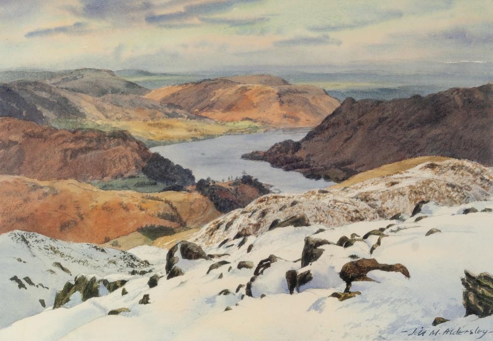 "Lot 396 - JIM M. ALDERSLEY ARTIST SIGNED LIMITED EDITION COLOUR PRINT 'Ullswater', (206/850) 10"" x 14"" (25.4cm"
