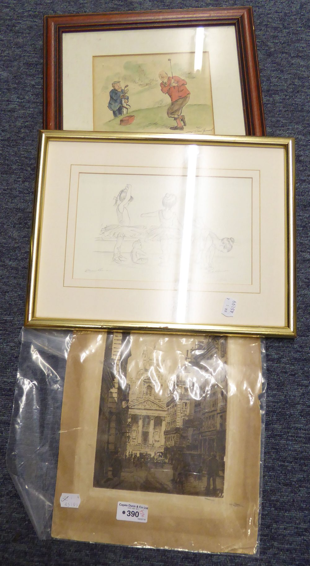 Lot 390 - ORIGINAL ETCHING 1920's CITY STREET SCENE UNFRAMED STEVE O'CONNELL SIGNED LIMITED EDITION PRINT '