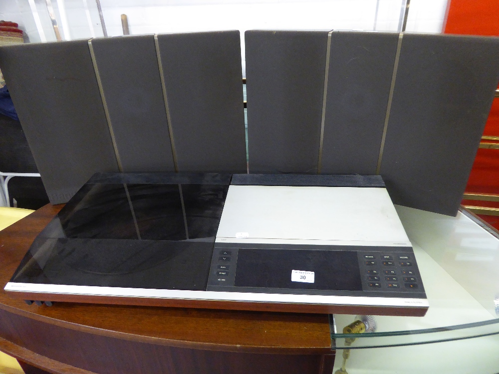 Lot 30 - BANG AND OLUFSEN BEOCENTRE 7007 MUSIC CENTRE AND A QUANTITY OF GRAMOPHONE RECORDS (CONDITION