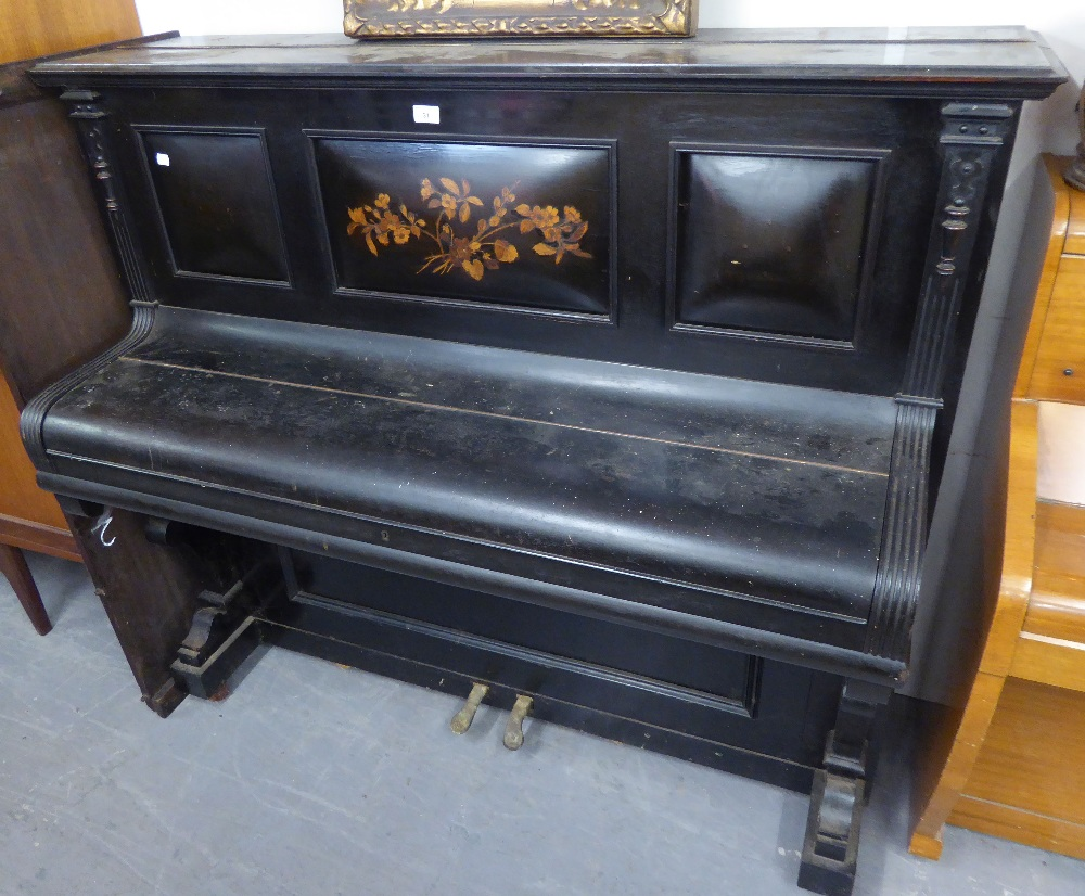 Lot 31 - A CRANE AND SONS LTD. LIVERPOOL AND LONDON, UPRIGHT PIANO, IN EBONISED CASE