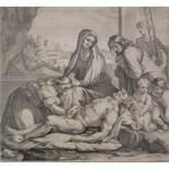 Alexis LOIR (1640-1713), Kupferstich, gestochen nach der Vorlage von Nicolas Loir, Darstellung der