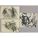 Siegfried REICH AN DER STOLPE (1912-2001), drei abstrakte Kompositionen, jew. sign. u. dat. 56 u.