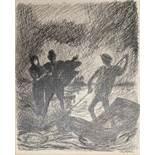 """Alfred KUBIN (1877-1959), Federzeichnung auf Papier, """"Entführung"""", u.re. sign., Maße: ca. 38 x 30"""