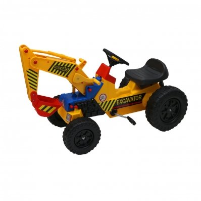 (RL70) Childrens Pedal Ride on Yellow Super Digger Tractor Our Childrens Pedal Ride on Yello...